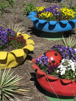 Felder Rushing Shares A Few Different Options On How To Make Your Own Tire  Planter. He Also Explains How To Cut And Shape Tires Safely With Directions  And ...