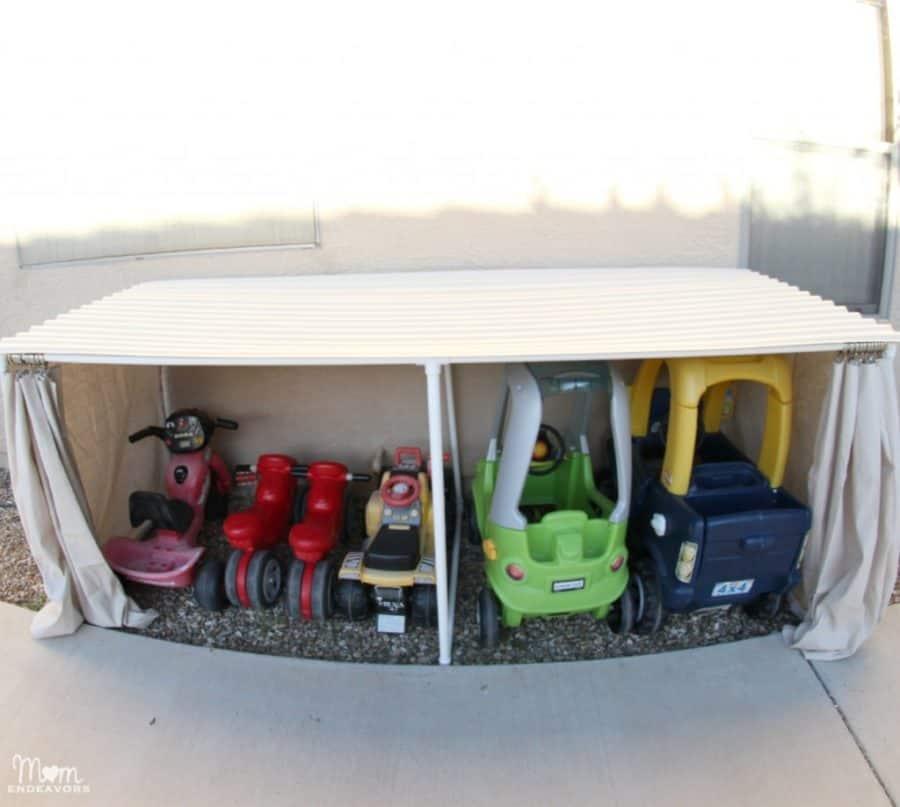 Outside Toy Organizer