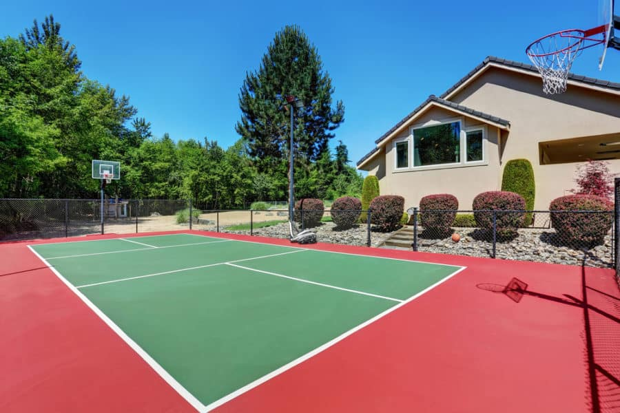 21 Backyard Basketball Court Ideas