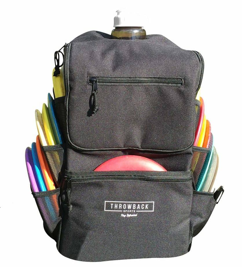 Disc Golf Backpack with Oversize Cooler Built-in