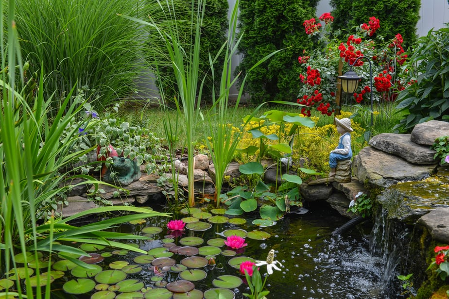 29 Best Water Garden Ideas (Our Favorites + Images!) 2020 Rustic Backyard Fountain Ideas on rustic gardening, garden fountains, beautiful backyard fountains, classic backyard fountains, tropical backyard fountains, modern backyard fountains, unique backyard fountains, elegant backyard fountains, large backyard fountains, wood backyard fountains, small backyard fountains, bird baths and fountains,